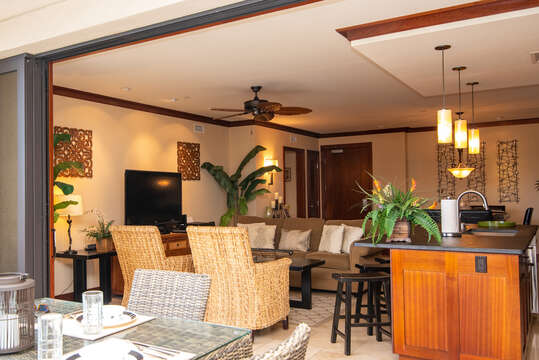 View of the entire oahu condo rental from patio