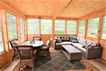 Screened in Muskoka Room, Tea Lake