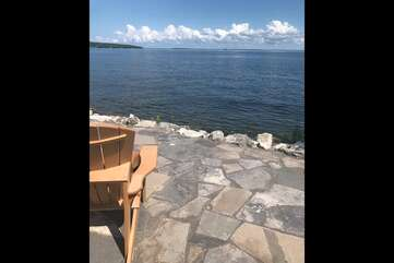 Lake side deck Georgian Bay