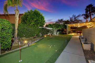 Challenge the other guests to a game of miniature golf