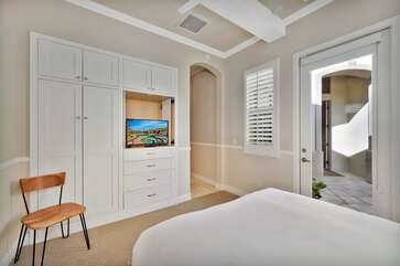 The casita bedroom has an attached  full private bath and access to the front courtyard Bedroom 2