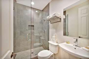 Bathroom 4 (full bath)  is conveniently located near bedrooms 4 & 5
