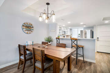 Indoor Dining Table, Chairs, Breakfast Bar, and Bar Stools
