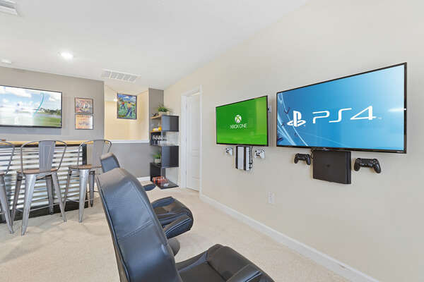 The loft also features SMART TVs equipped with Xbox One and Playstation 4