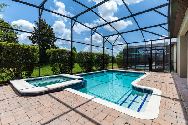 Unwind in your own personal pool and spa