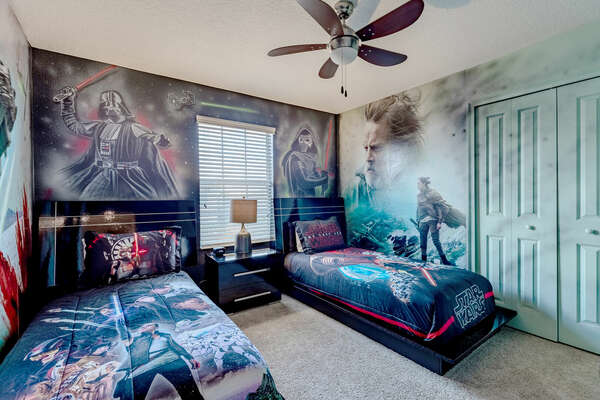 Travel out of this world in this galactic bedroom