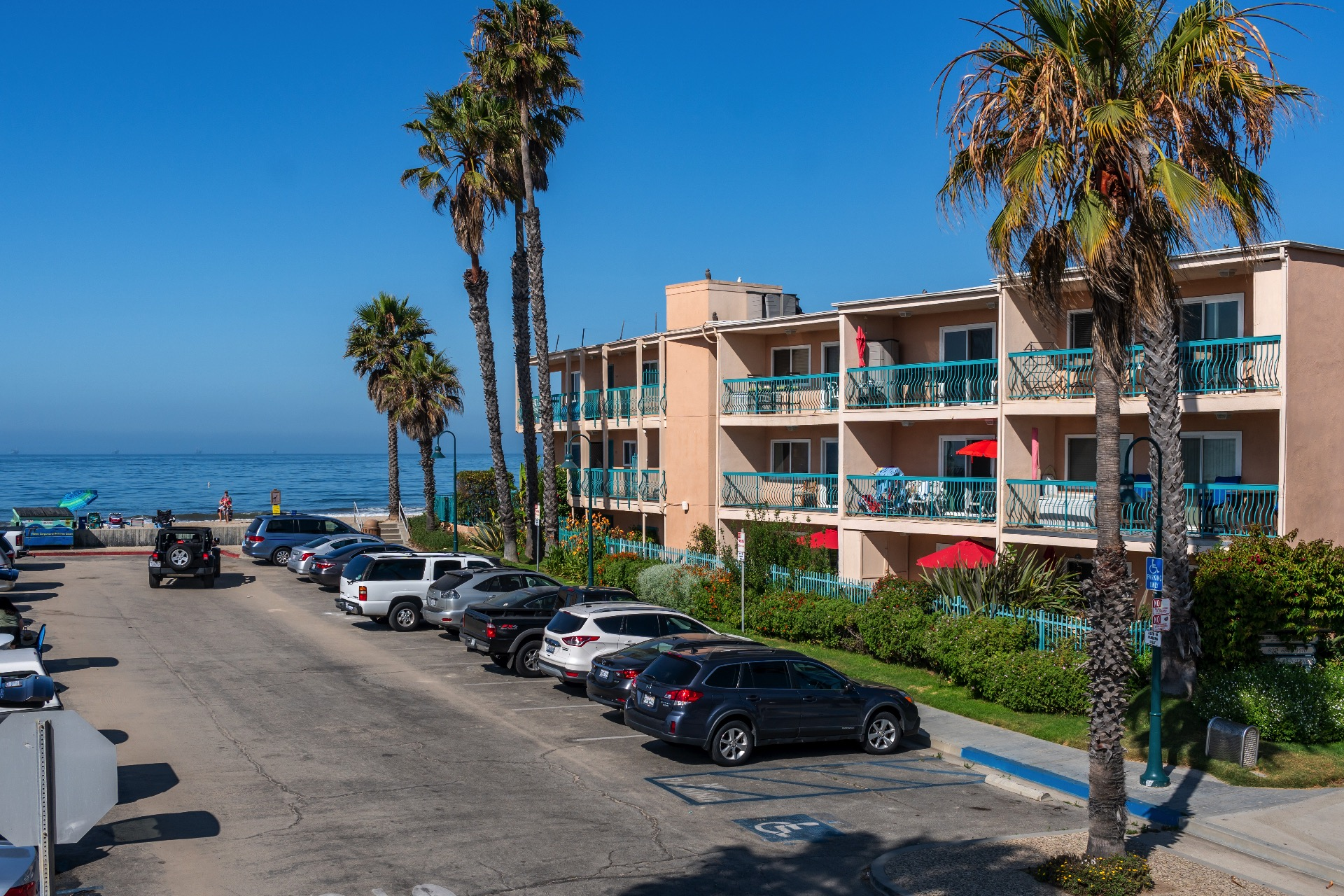 View of the Carpinteria Shores resort from the road