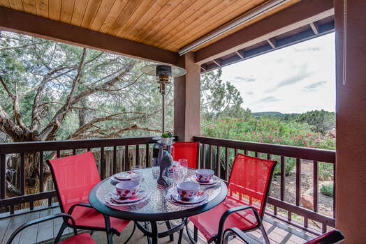 Enjoy the Outdoor Dining Space