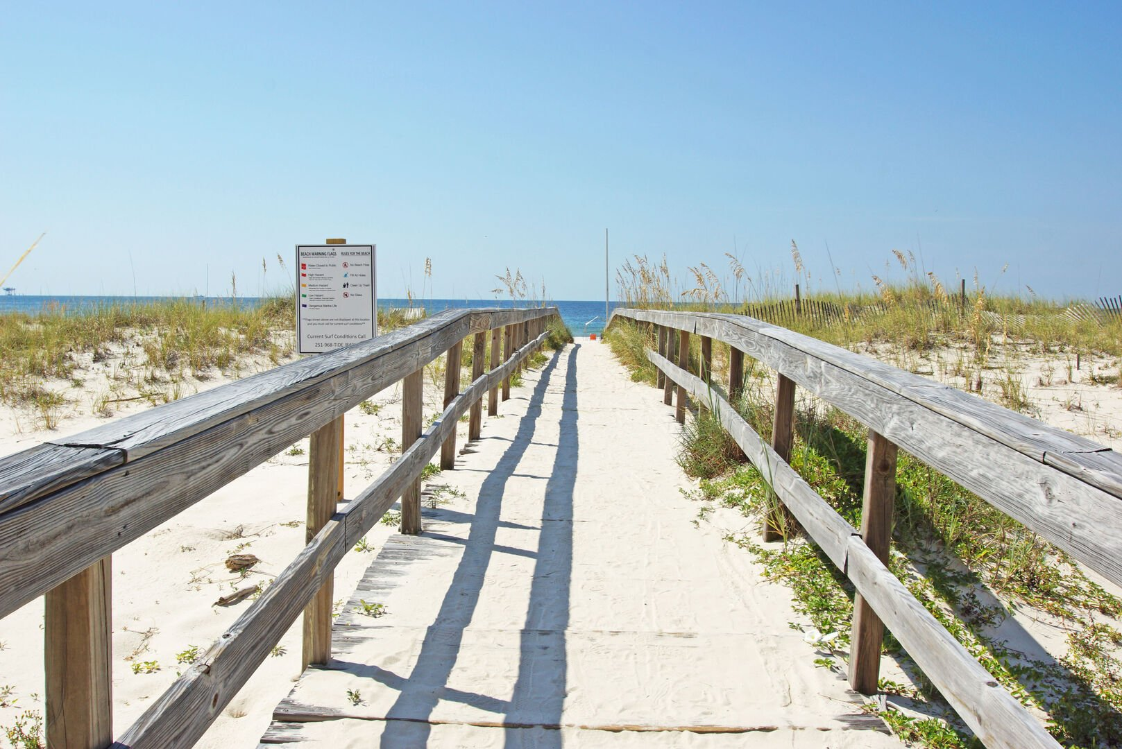 An Image of the Walkway Leading to Beach.