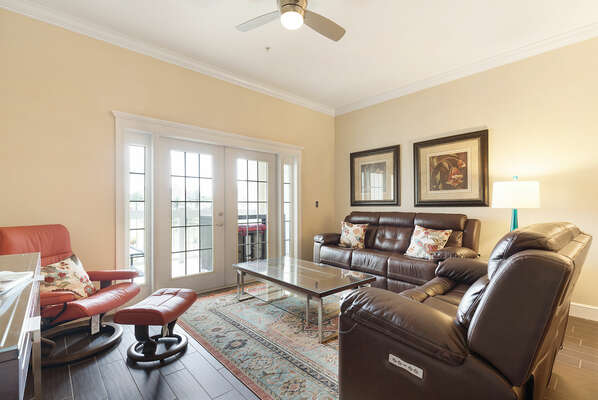 Step inside from the balcony and you`ll find yourself right in the spacious open living area