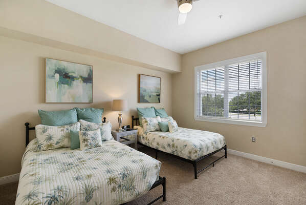 Kids and teens will love bedroom 3 with two comfortable full sized beds
