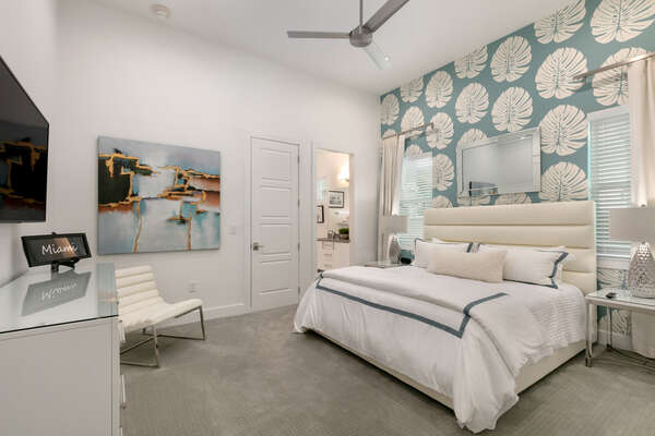 Make yourself at home in this master suite
