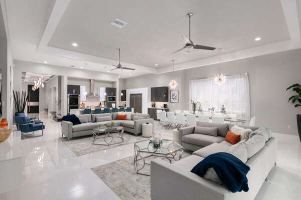 Spacious and welcoming living area