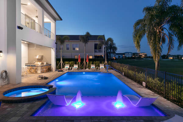 Take a night swim in your private hideaway