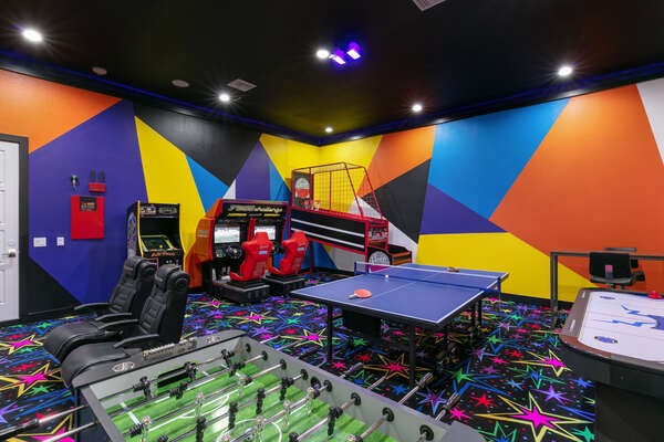 The fun never stops in this incredible game room