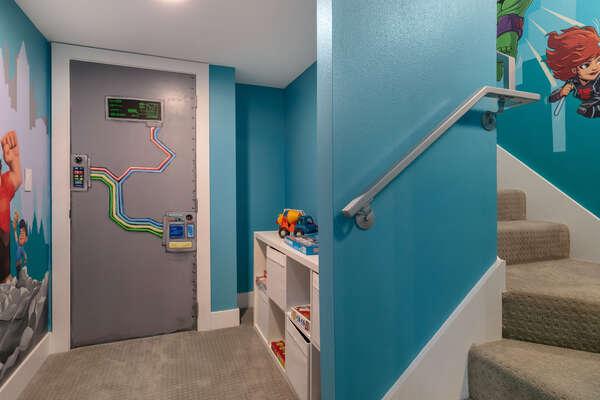 Kids will love the secret play zone