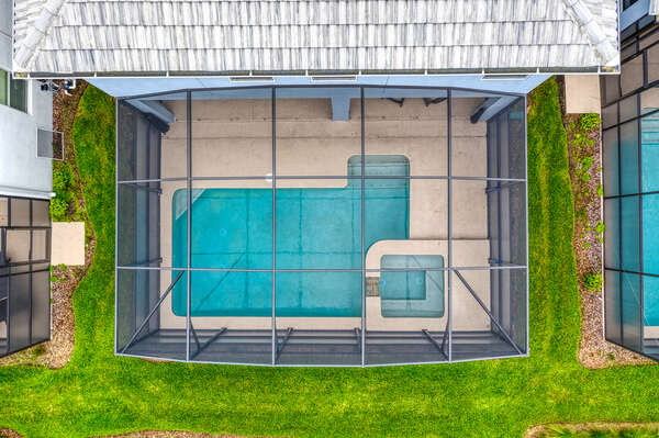 Aerial View of your private pool patio