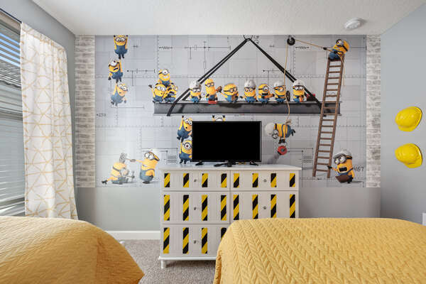 Kids can watch their favorite cartoons