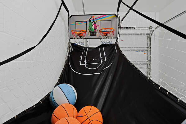 Shoot some hoops on the indoor basketball game