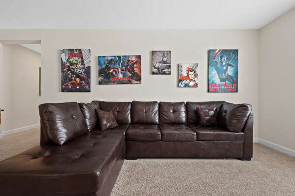 Decorated with a super hero theme