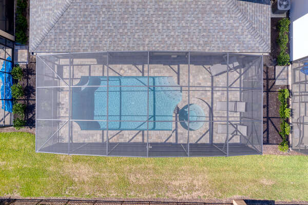 Aerial view of your pool area