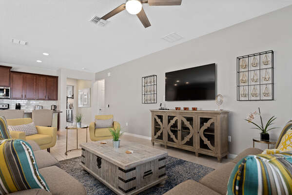 Get closer to your family in this living area