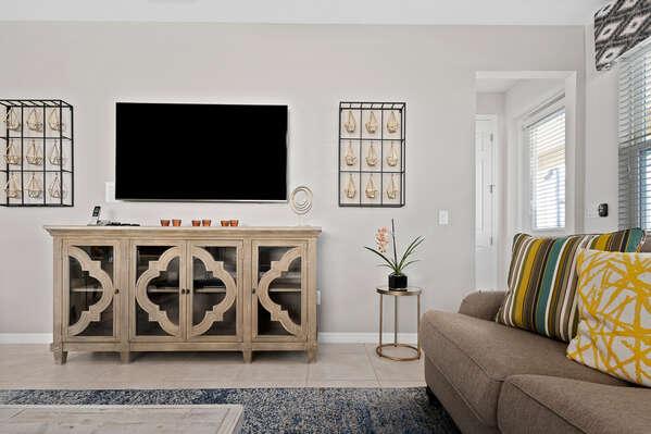 Large TV for entertaining