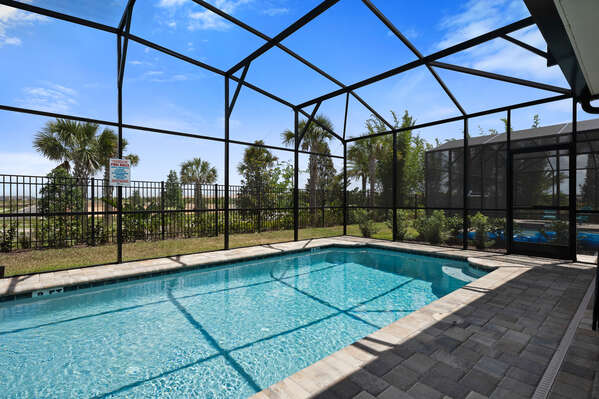 The pool is screened In for your comfort