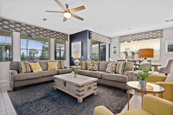 The open concept living area