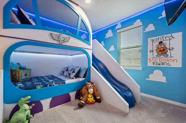 Your kids will be joining a toy's world in this bedroom