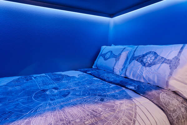 Full size beds will allow your kids to spread out