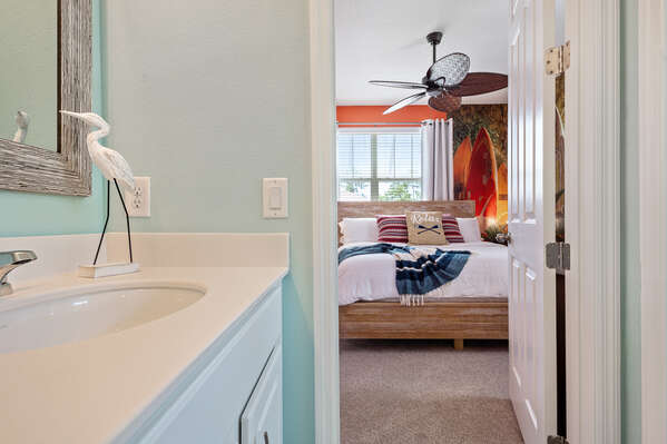 Head into the second master bedroom