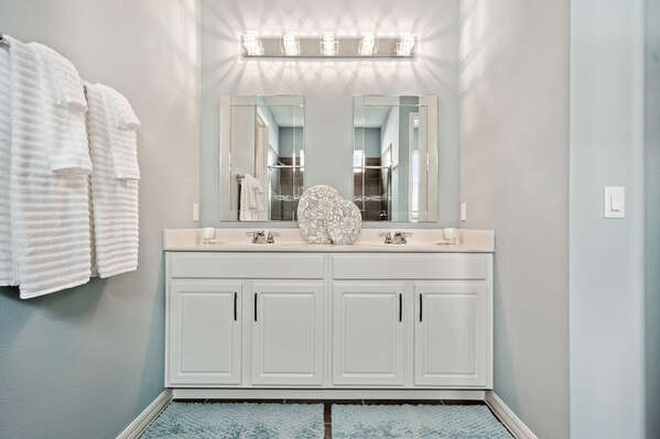 Get ready at the dual vanity