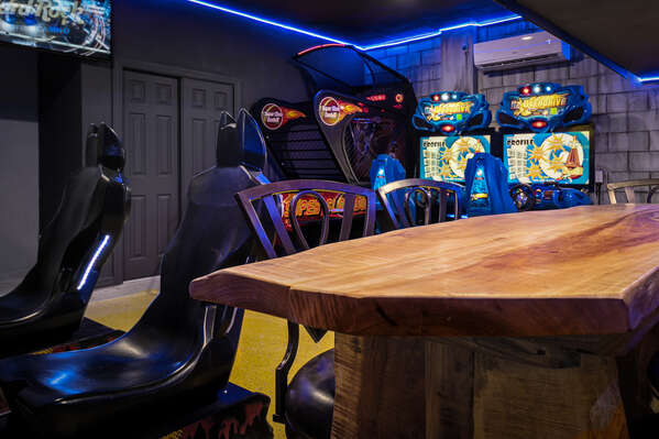 Hang out in the games room