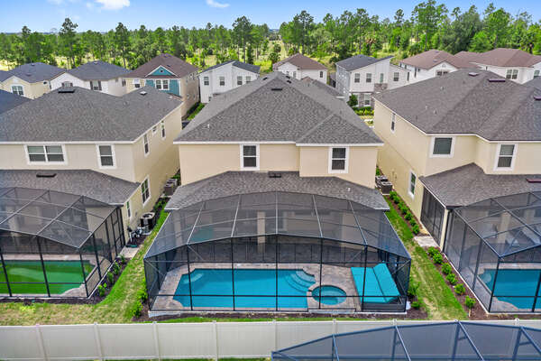 This 9 bedroom home has a large private pool area