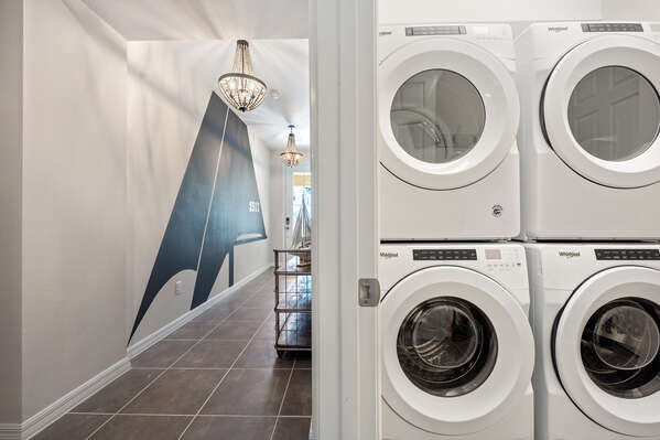 Double washer and dryer for your convenience