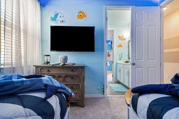 Kids can watch their favorite shows before bed