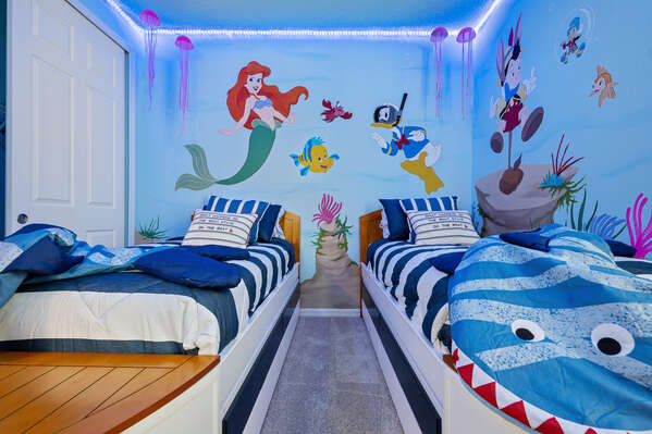 Go under the sea in this bedroom