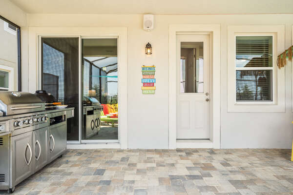 Step right outside from your living area