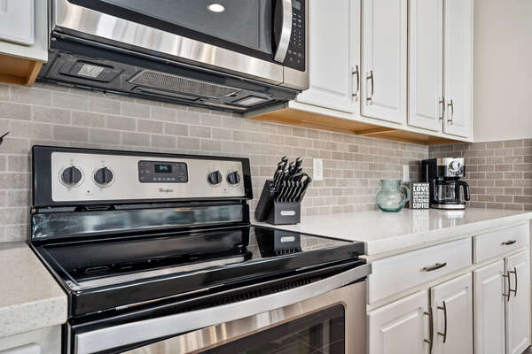Stainless steel appliances are a chef's dream