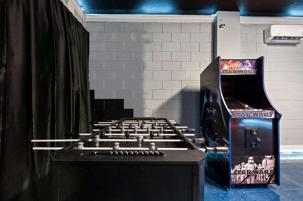Play some foosball