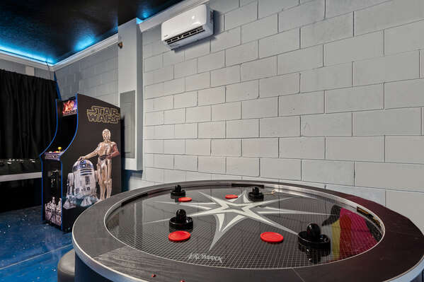 4 player air hockey will entertain for hours