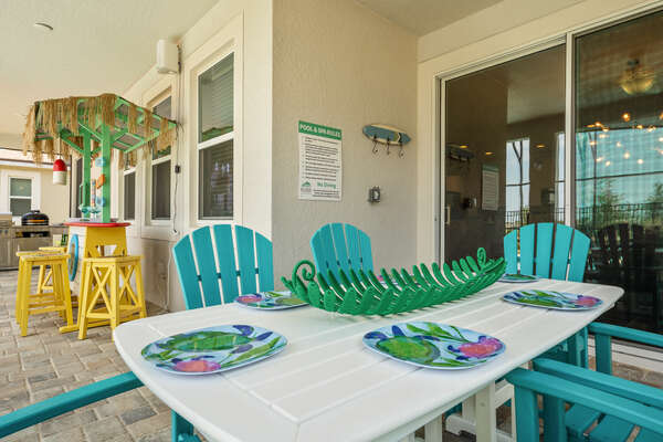 Tropical outdoor seating