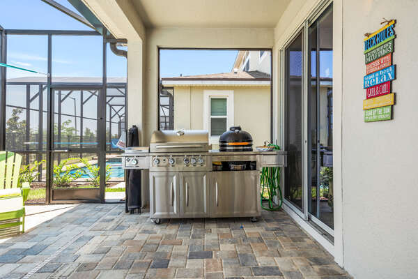 Outdoor grill perfect for grilling up lunch