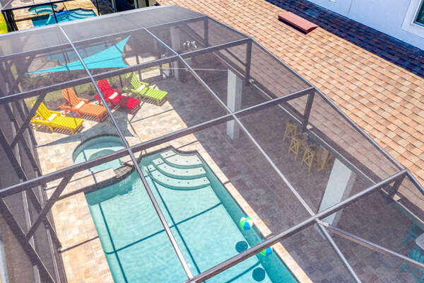 Spend your days under the sun in your private pool patio