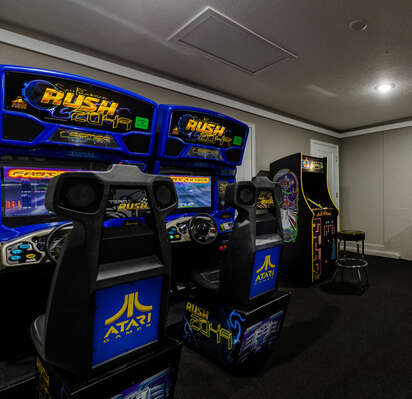 Choose from a variety of arcade games to play