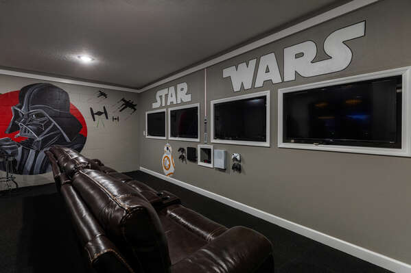 Have a blast in this custom game room