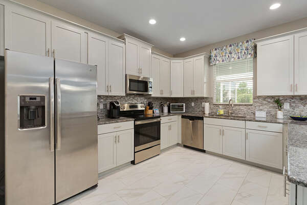 Prepare a gourmet meal in this beautiful fully equipped kitchen