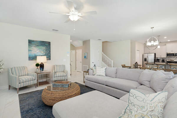 The open floor plan makes it a great space for spending time with loved ones