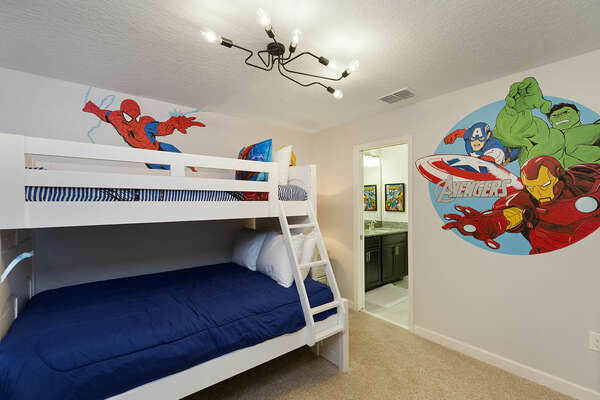 Kids will have their own bedrooms with a TV just to themselves